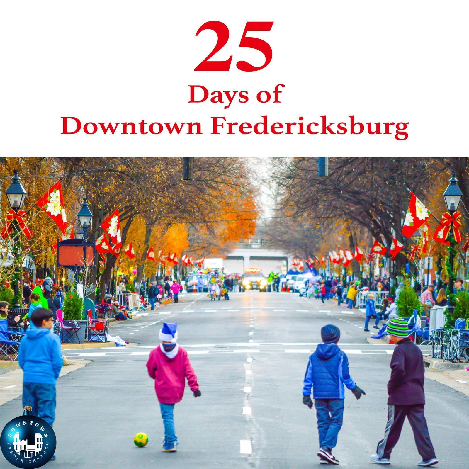 Gift Twenty-five The last gift on our list is something you can't buy. It's the gift of family and friends wrapped in love.  Merry Christmas from Downtown Fredericksburg. https://www.facebook.com/DowntownFredericksburg/  25 Days of Downtown Fredericksburg