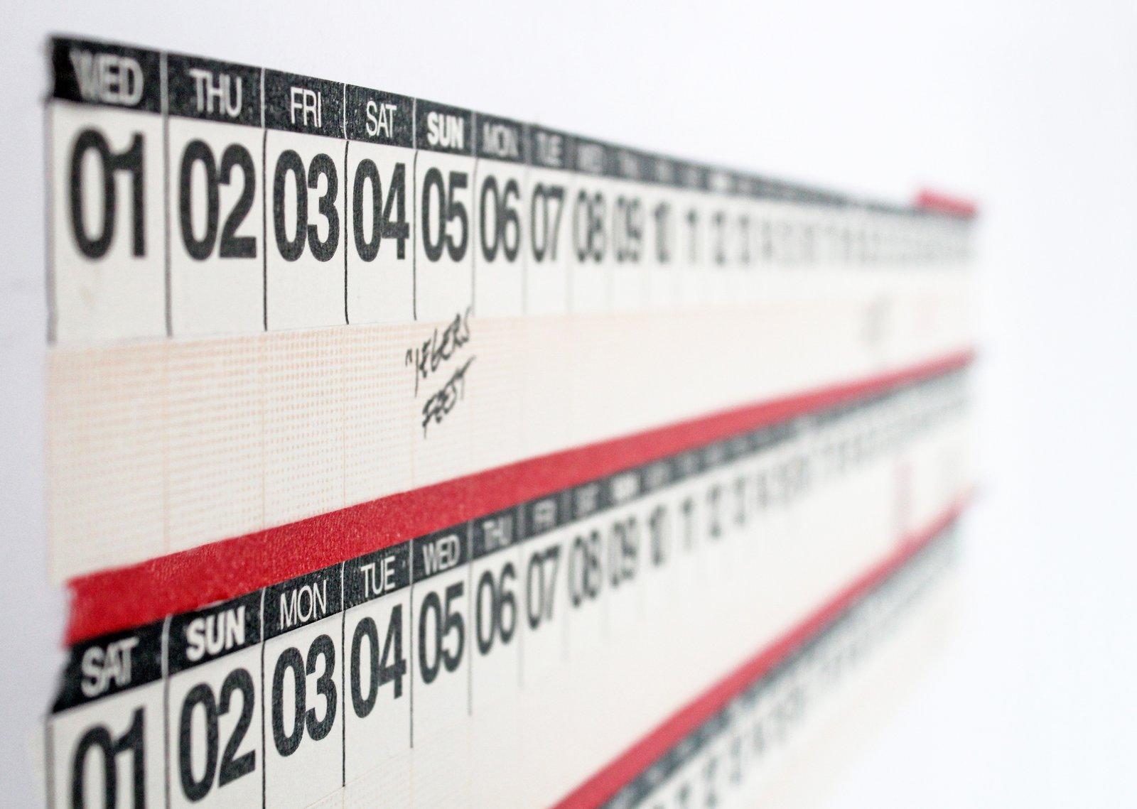 Year Round calendar tape  Year Round calendar tape