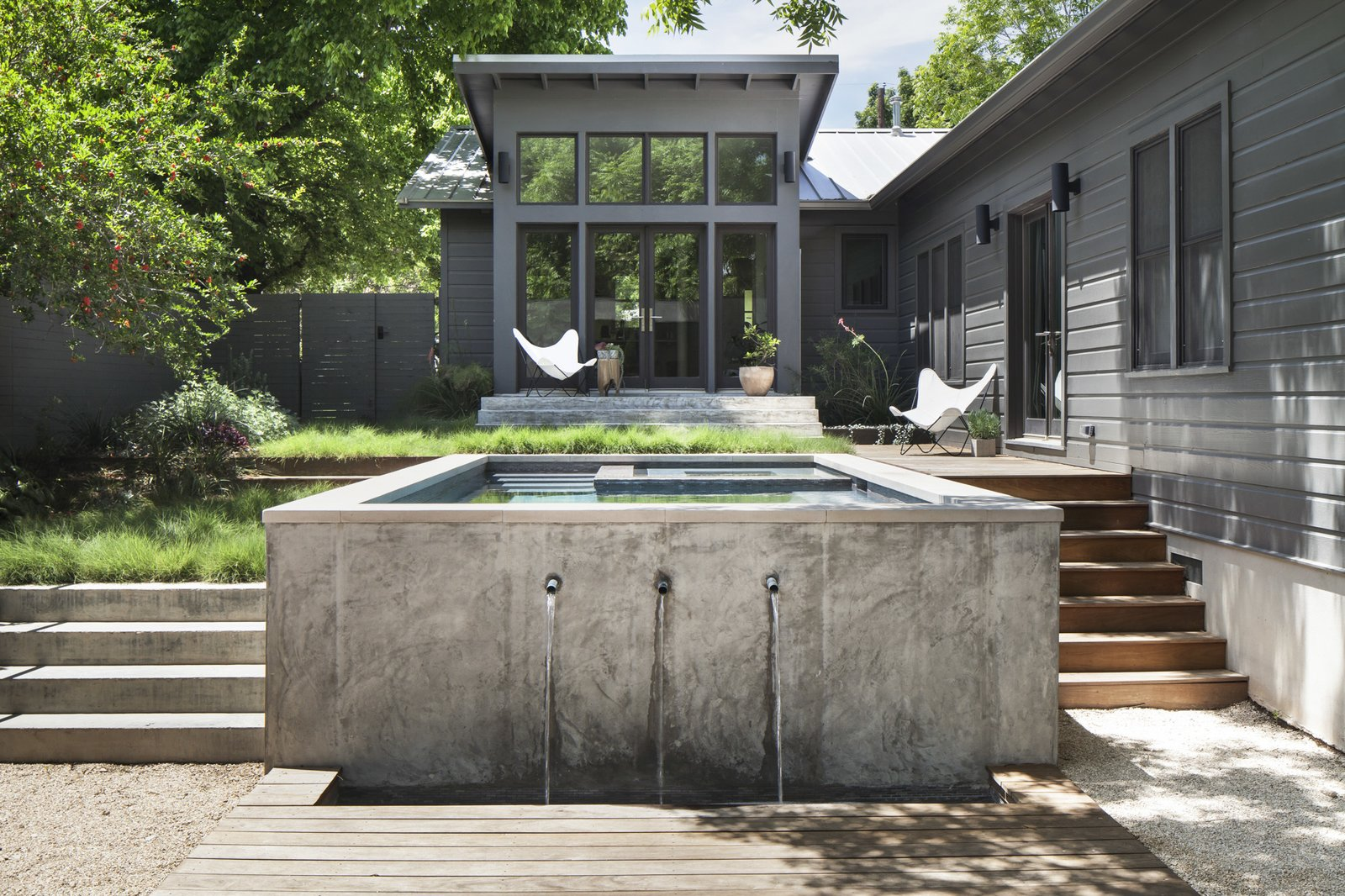 Garner Pool Amp Casita Modern Home In Austin Texas By