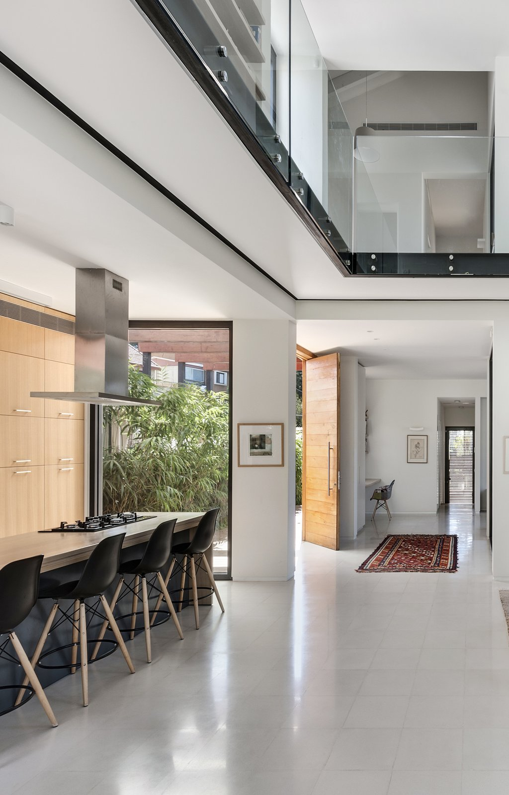 Kitchen, Wood Counter, Granite Counter, Ceiling Lighting, and Wood Cabinet Ravit Dvir Architecture and Design  The House in Harutzim