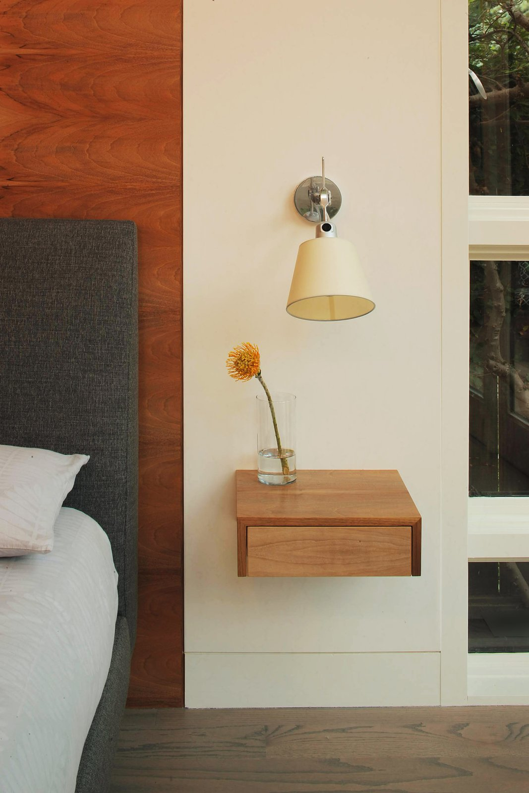 Custom floating nightstand  Beverley Master Bedroom Suite Addition by Kathryn A. Rogers
