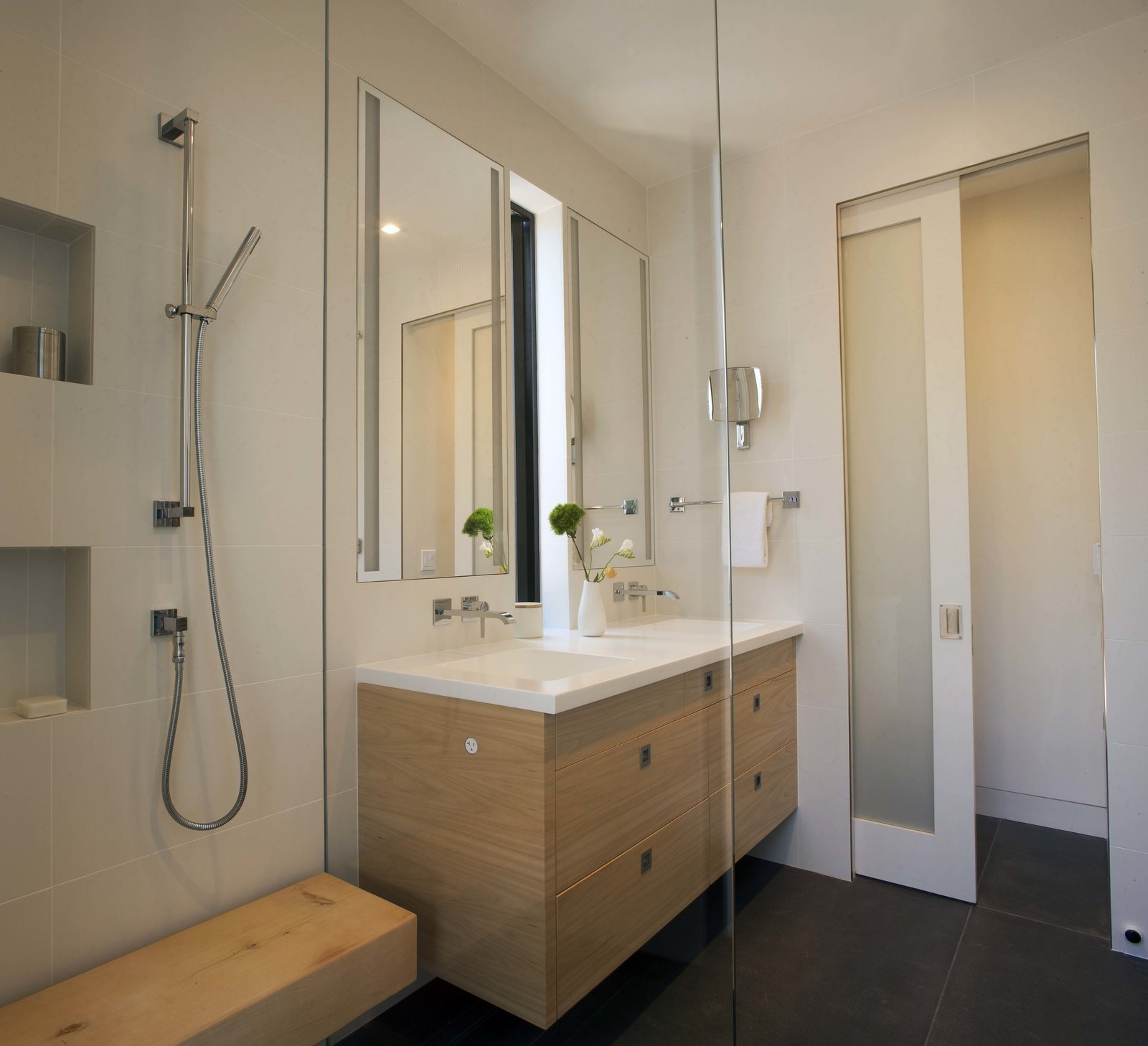 Master Bathroom with a walk-in shower  Beverley Master Bedroom Suite Addition by Kathryn A. Rogers