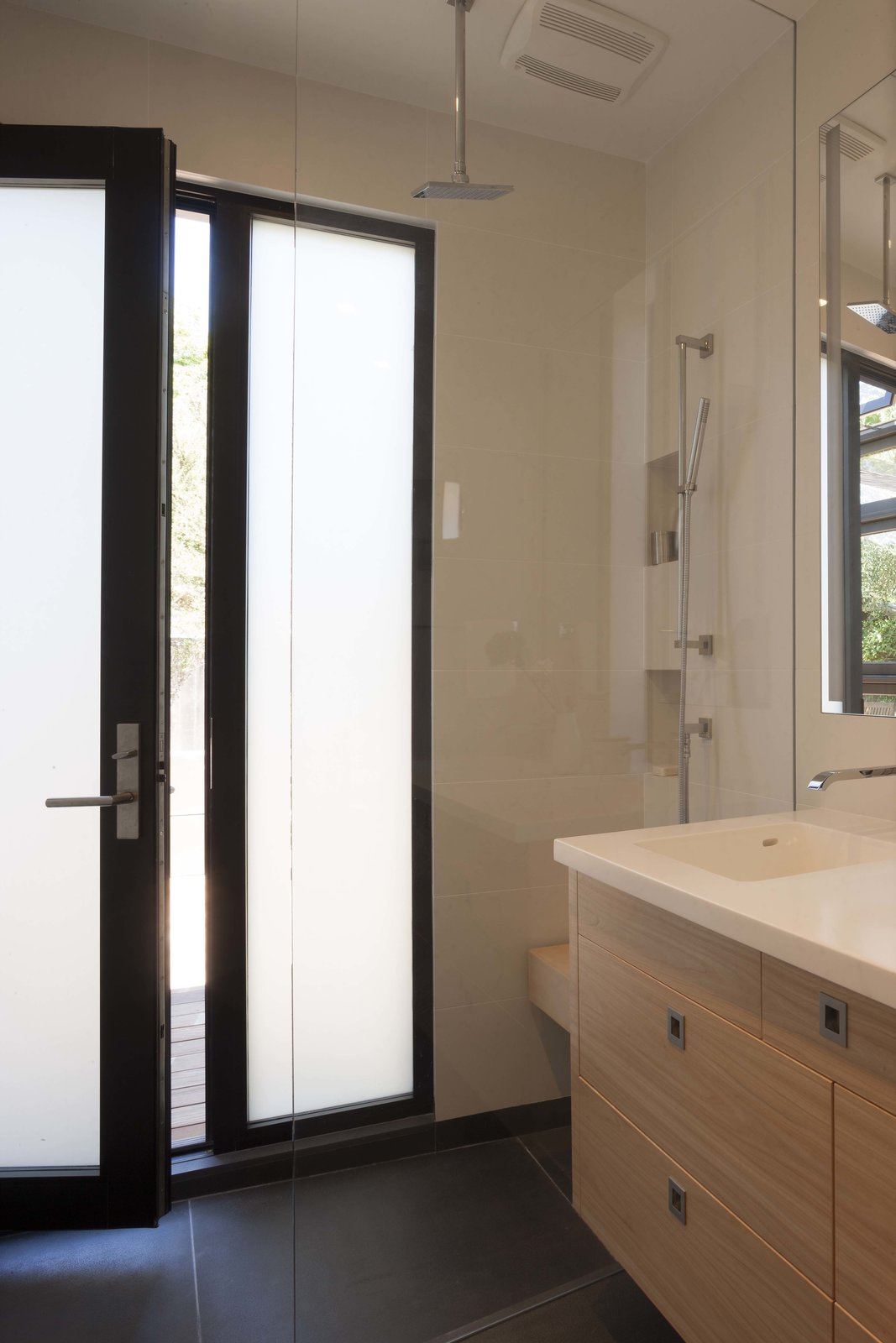 Walk out shower  Beverley Master Bedroom Suite Addition by Kathryn A. Rogers