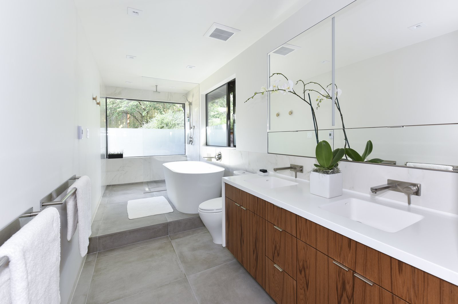 Contemporary Master Bathroom Remodel Modern Home in Kensington,… on ...