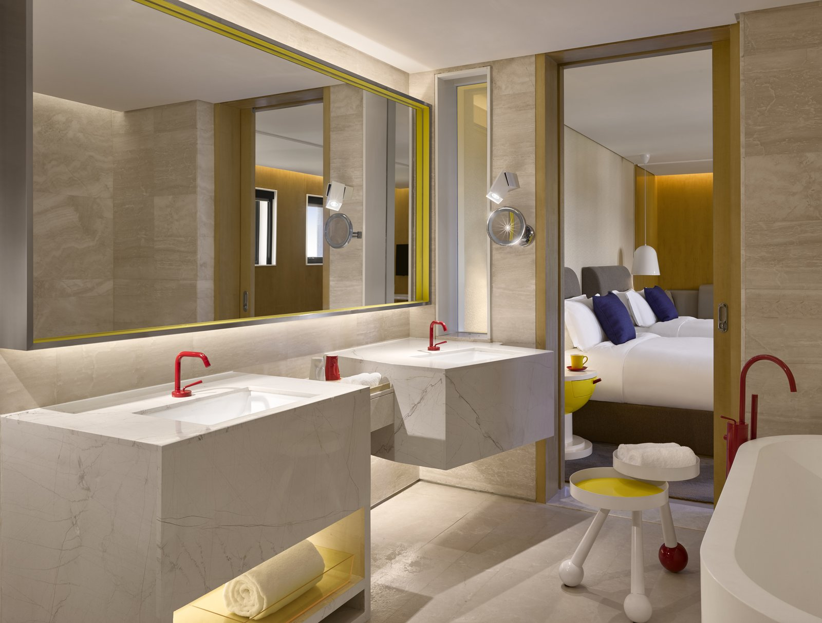 "Bath Room and Freestanding Tub The complex is managed by Artyzen Hospitality Group, whose operating philosophy of embracing ""art, culture and emotional wisdom"" echoes throughout the architecture and design of the project.   Best Photos from Artyzen Sifang"
