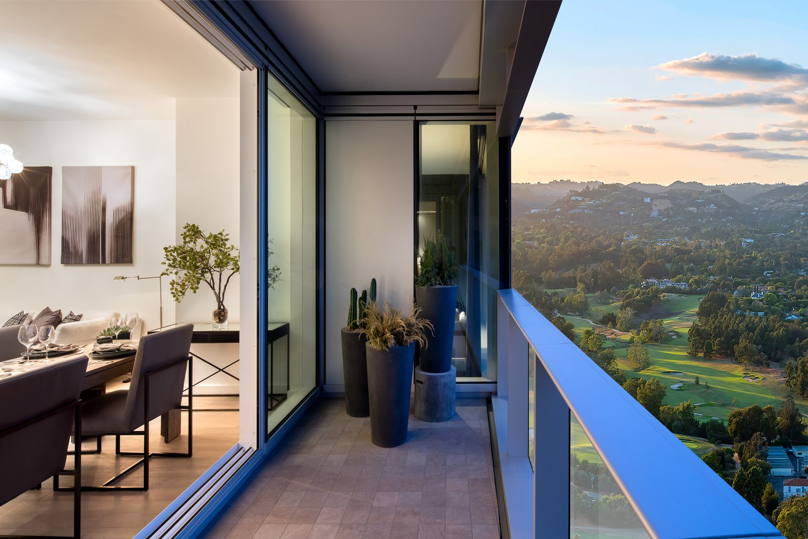 Ten Thousand brings functional modernism to the forefront with chic living spaces drawing the eye to the sweeping views of the Los Angeles Country Club just outside the residence's floor-to-ceiling windows.   Ten Thousand Unveils First Look at Life Inside the Elegant Los Angeles Tower