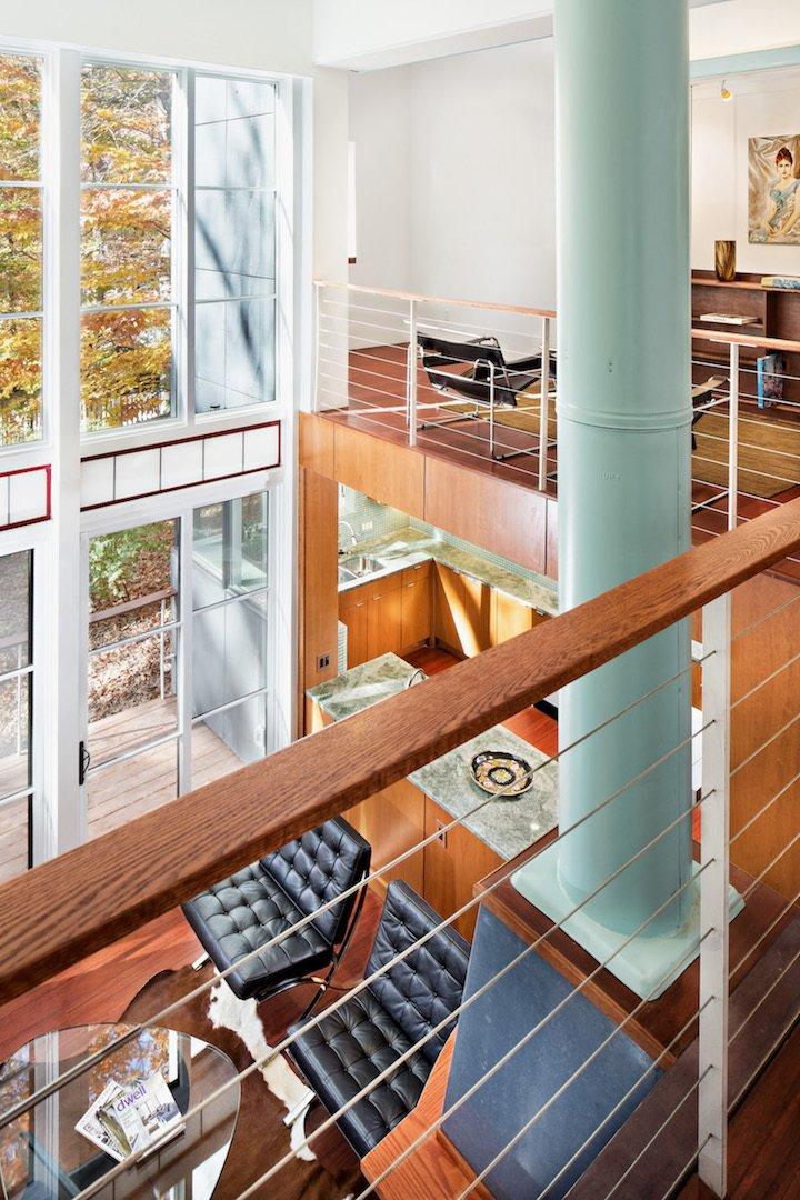 Hallway, Medium Hardwood Floor, and Concrete Floor 2nd Floor Balcony   Home for Sale: Takoma Park House