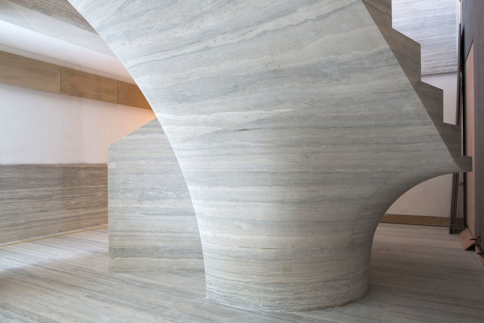 Architect/Designer: Jamie Fobert Architects Photography: Agnese Sanvito   Central London Stone Stair