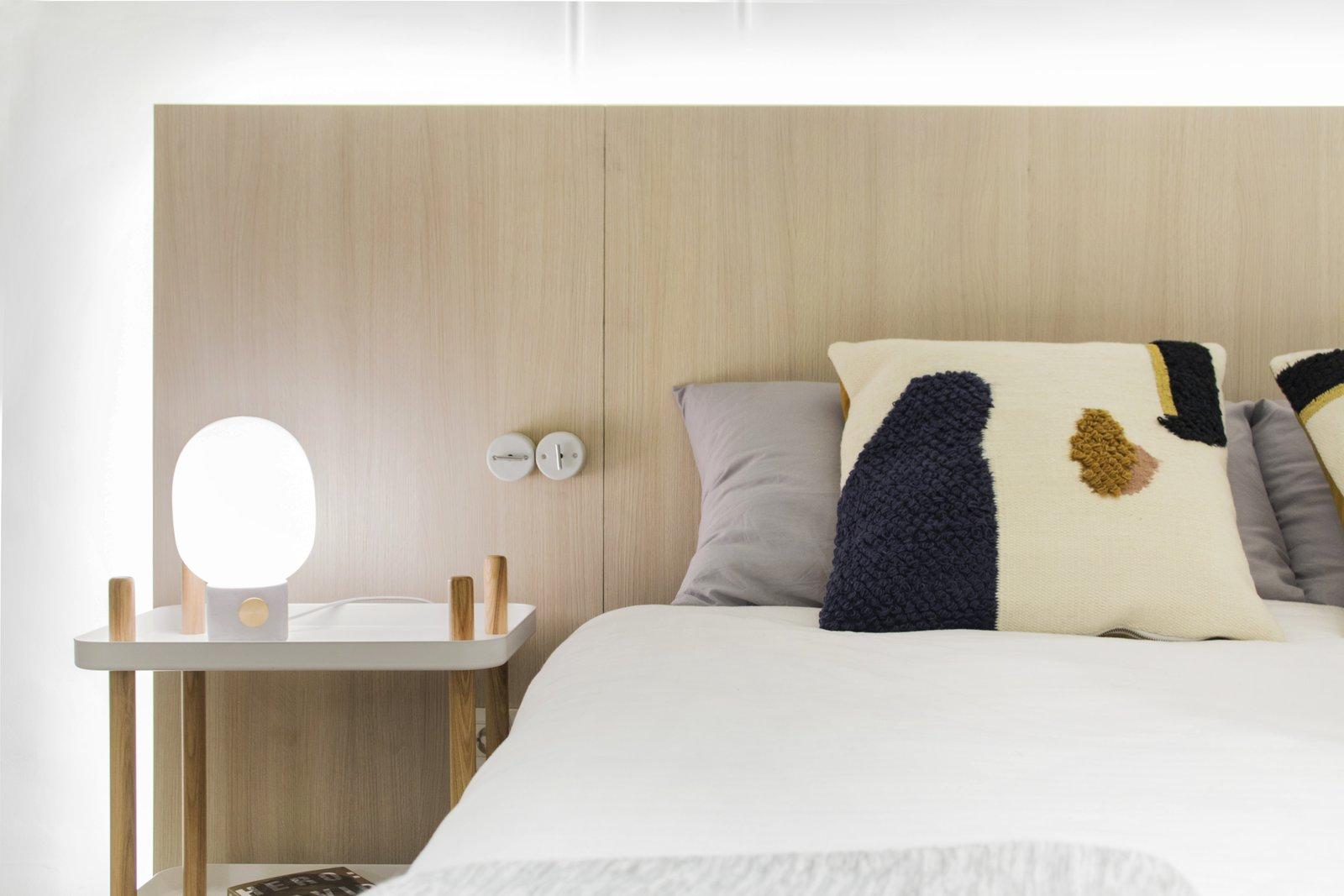 Bedroom, Lamps, Bed, Rockers, Table Lighting, and Night Stands 014.CASA PEX  014.PEX 114 - Apartment Renovation by estudio AMÁSL