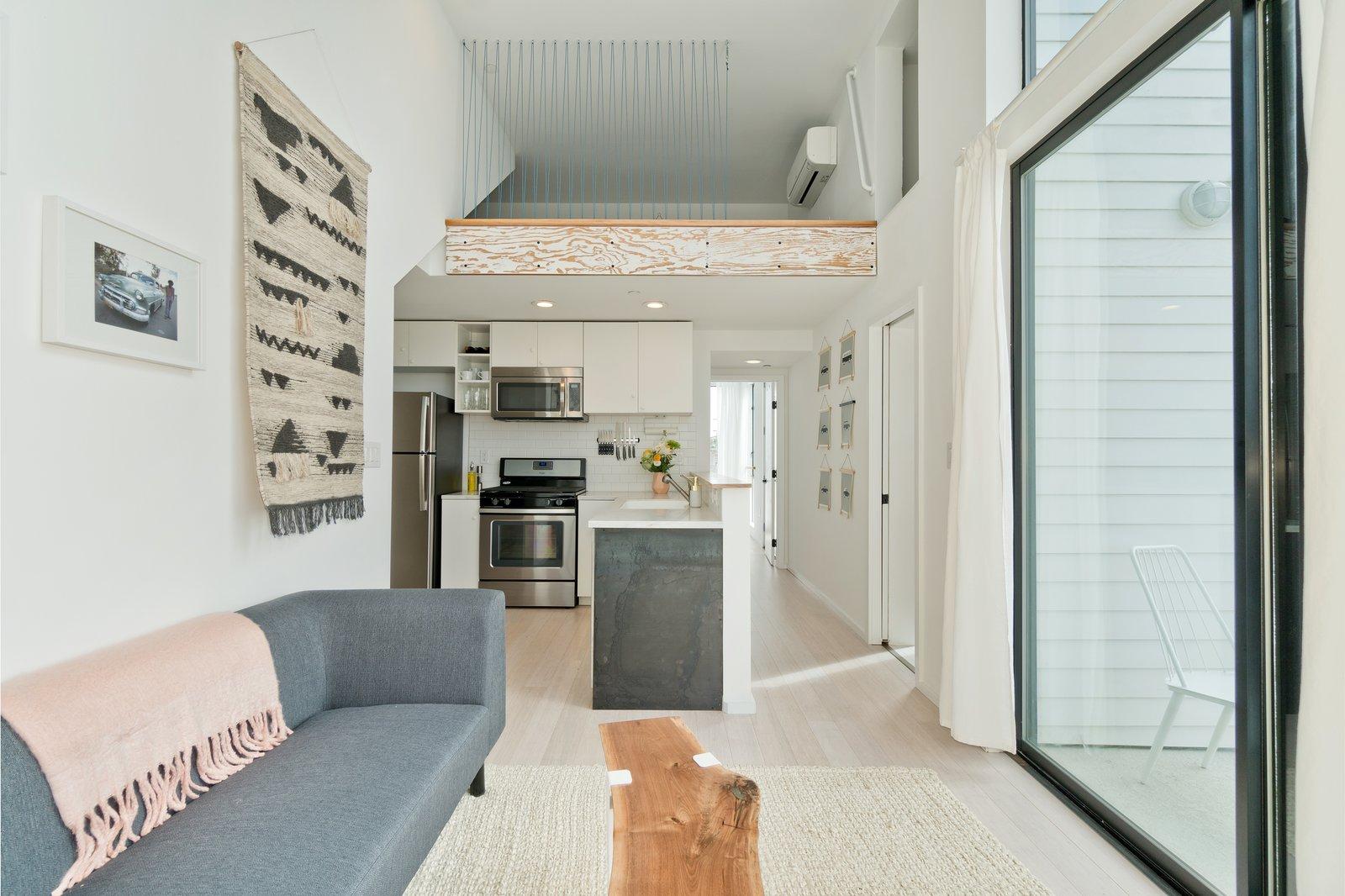 Living/Kitchen in Alley Unit  Three on Abbott
