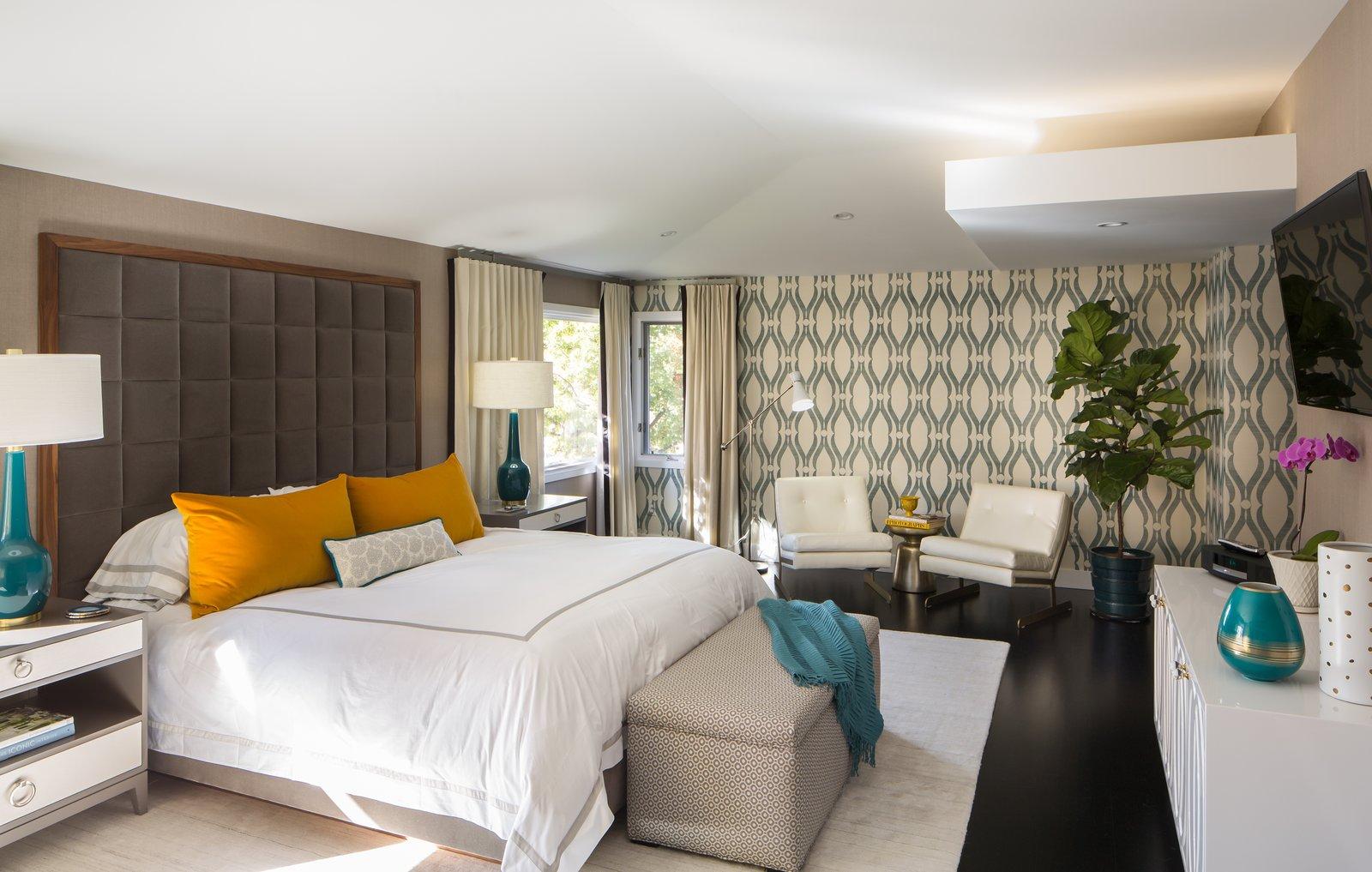 Bedroom, Bed, Ceiling Lighting, Dresser, and Dark Hardwood Floor Master Bedroom   Donner Residence by Design Platform