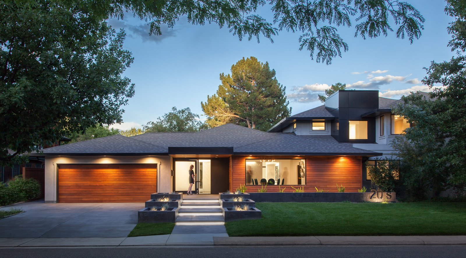 Exterior, House Building Type, Shingles Roof Material, Wood Siding Material, and Hipped RoofLine Exterior   Donner Residence by Design Platform