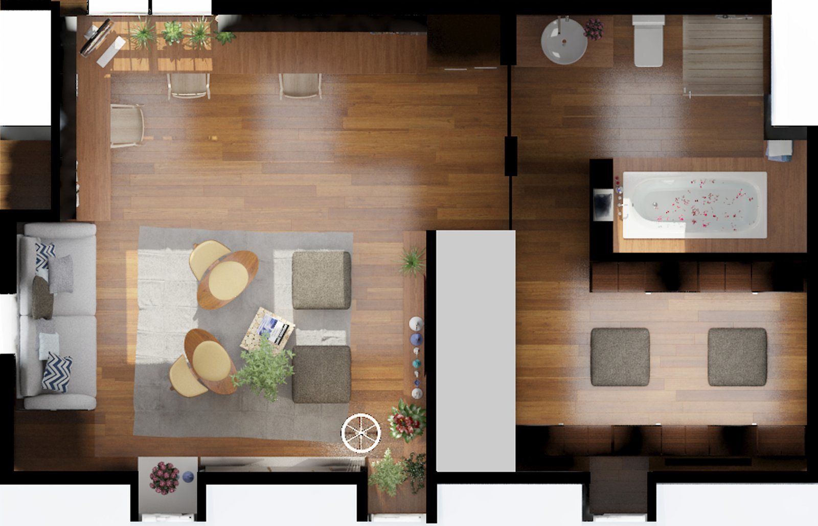 Top plan view  Inspired Flexible Attic Space