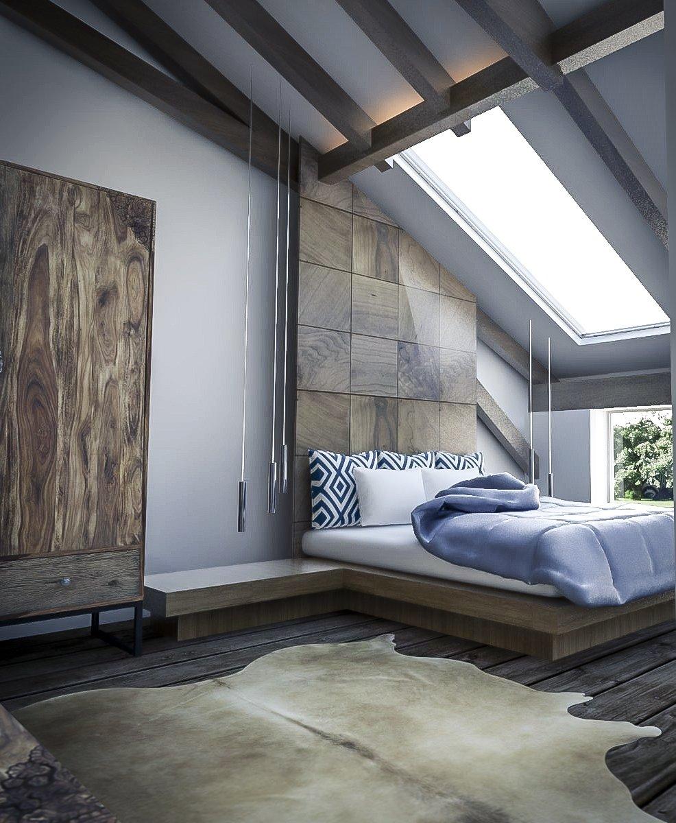 Bedroom, Bed, Rug, Wardrobe, Pendant, and Dark Hardwood Competition: Modern Farmhouse  Best Bedroom Wardrobe Rug Photos from A Stunning Modern Farmhouse Design