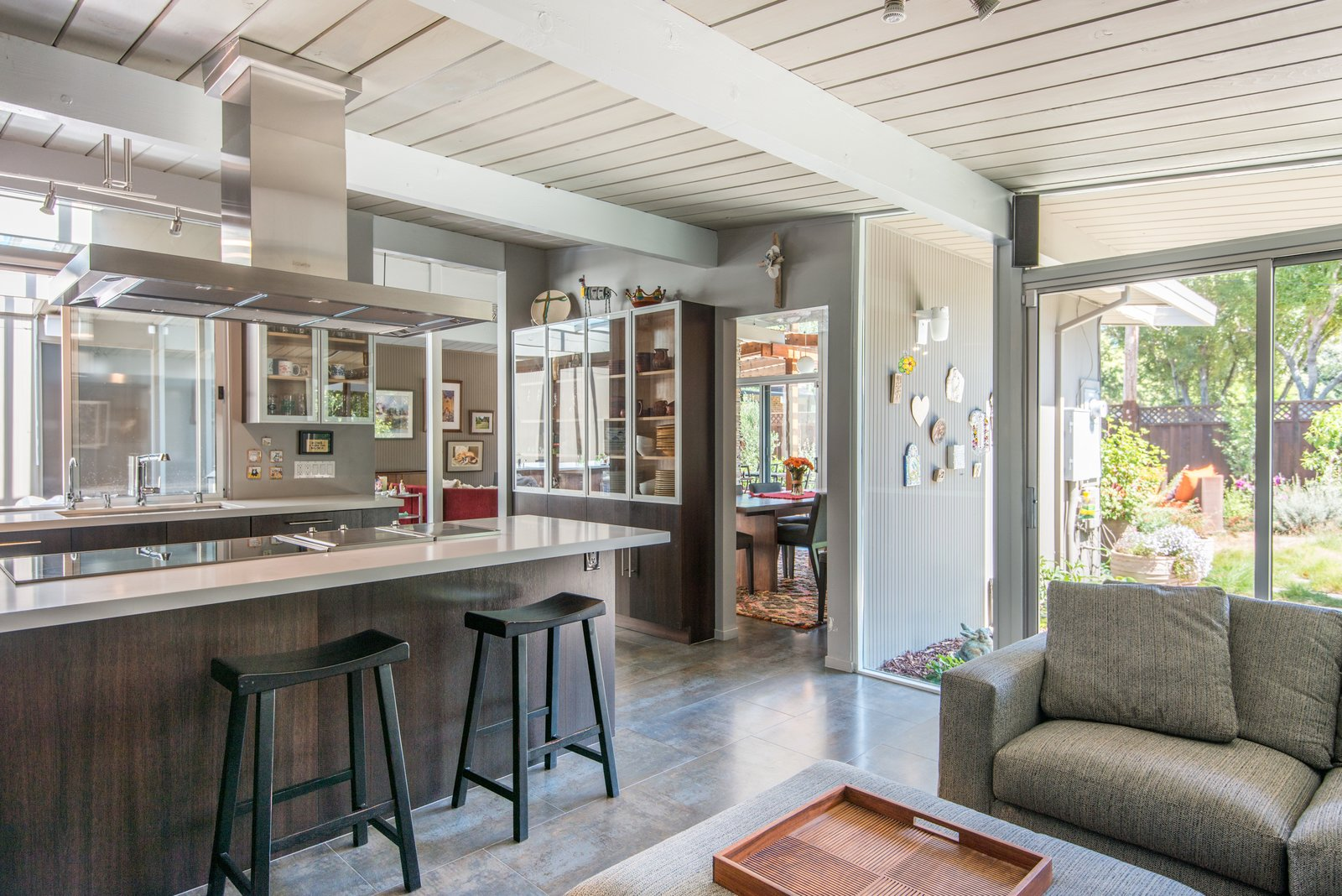 Kitchen The view from the family room - complete openness  Sunnyvale Eichler Remodel
