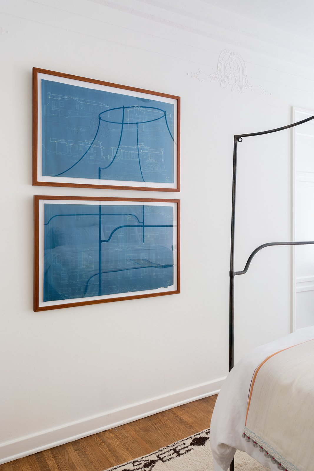 Bedroom, Medium Hardwood Floor, and Bed Guest Bedroom  Dundee Residence by Jette Creative