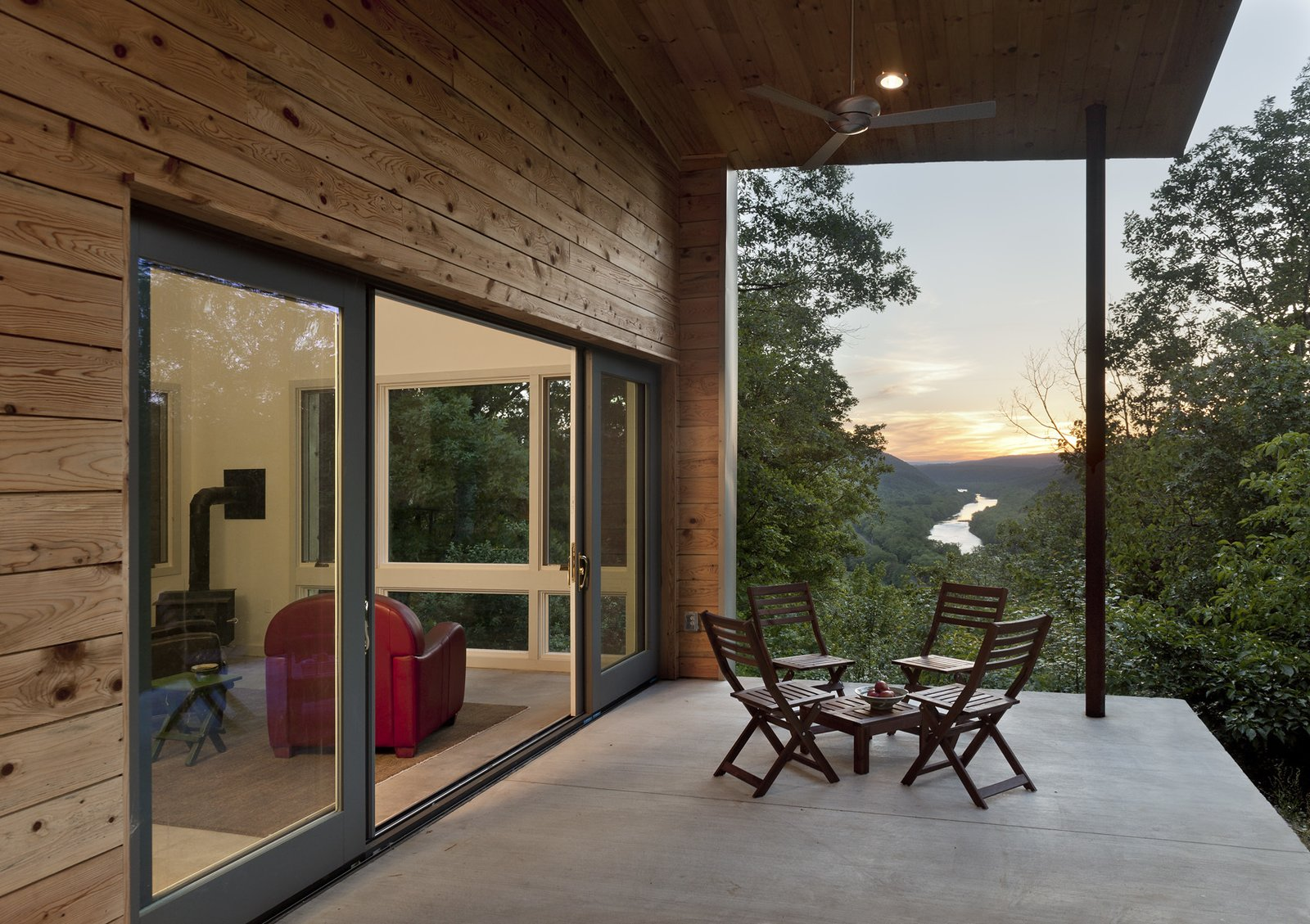 view from the porch to the Potomac River at dusk  Ridge House by GriD