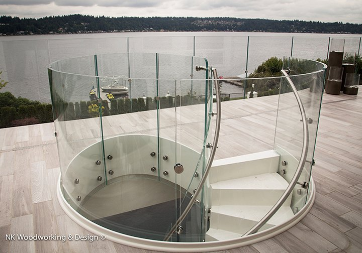 "Reflecting the cool grays of the Pacific NW  Photo 2 of 2 in ""White Chocolate Spiral Stair"""