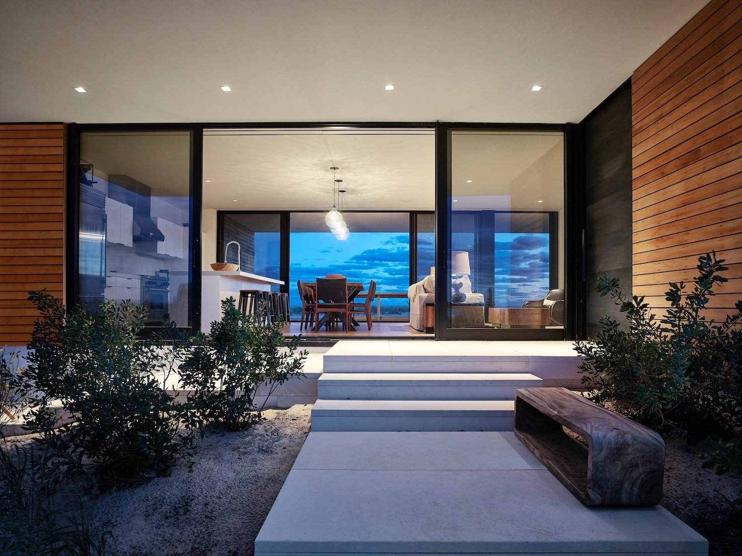 Main Entrance  House On The Point by Stelle Lomont Rouhani Architects