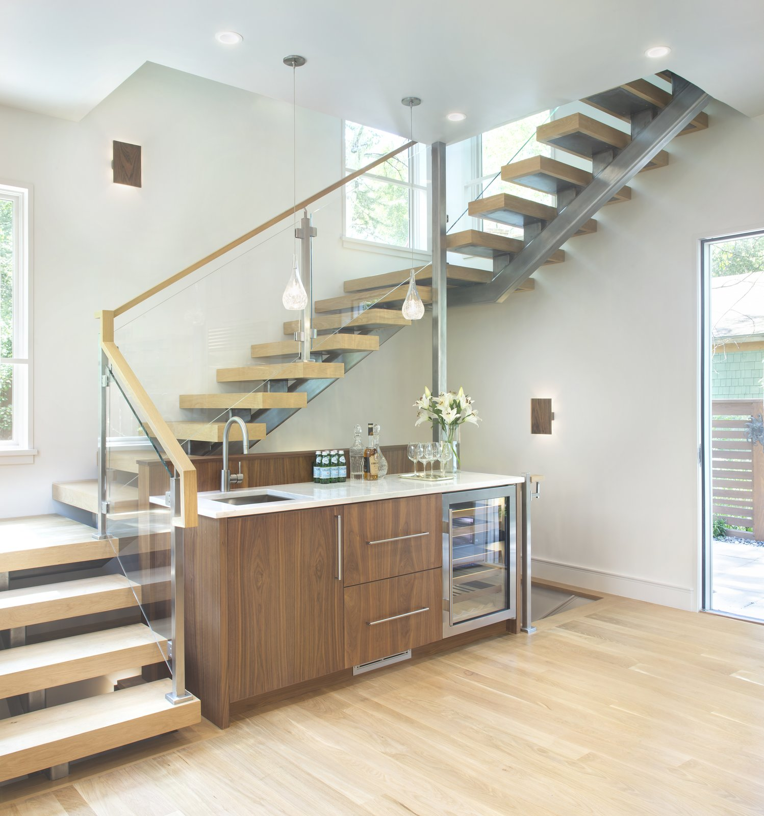 Staircase Stair and wet bar   Smuggler Grove by Forum Phi Architecture | Interiors | Planning