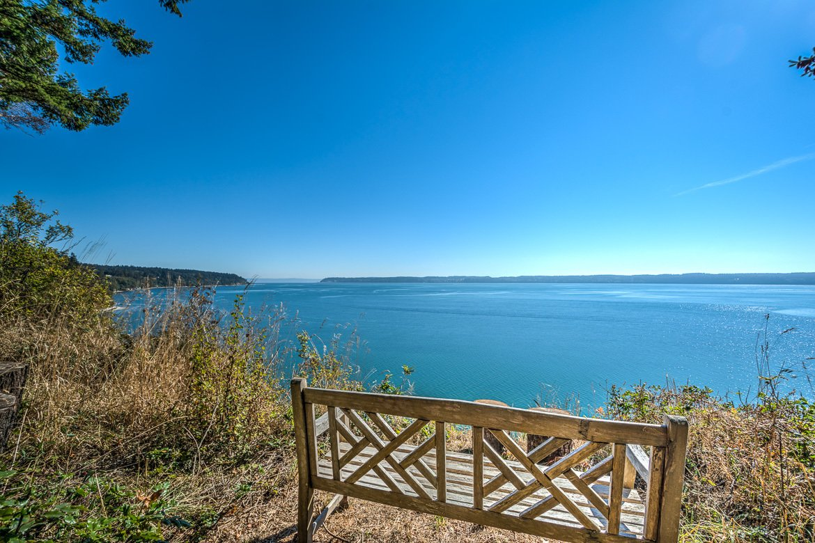 Southern waterfront looks over to Whidbey Island from Camano Island  Palil: a place of rest and rejuvenation