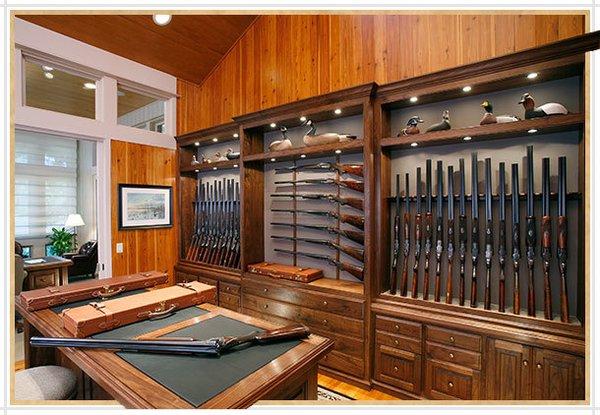 Homemade Wooden Gun Storage For Rifles Modern Home In