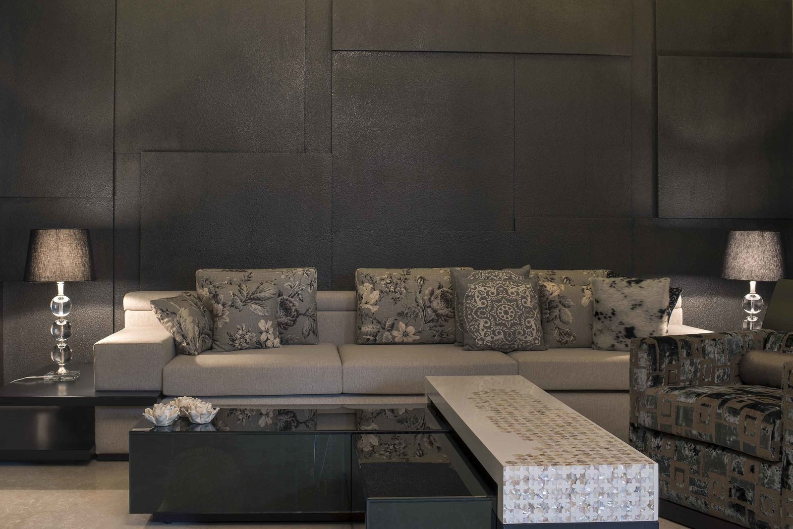 Grey space for elegant element design  Crafting Dynamic Living Spaces