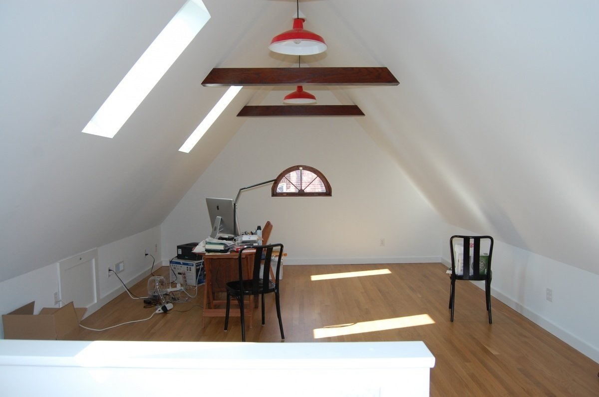 When in doubt, restore the structural elements of a space and add foundational design elements, allowing for the rest come later or not at all!  Photo 10 of 10 in 10 Ways to Create a Modern Workspace in Your Attic