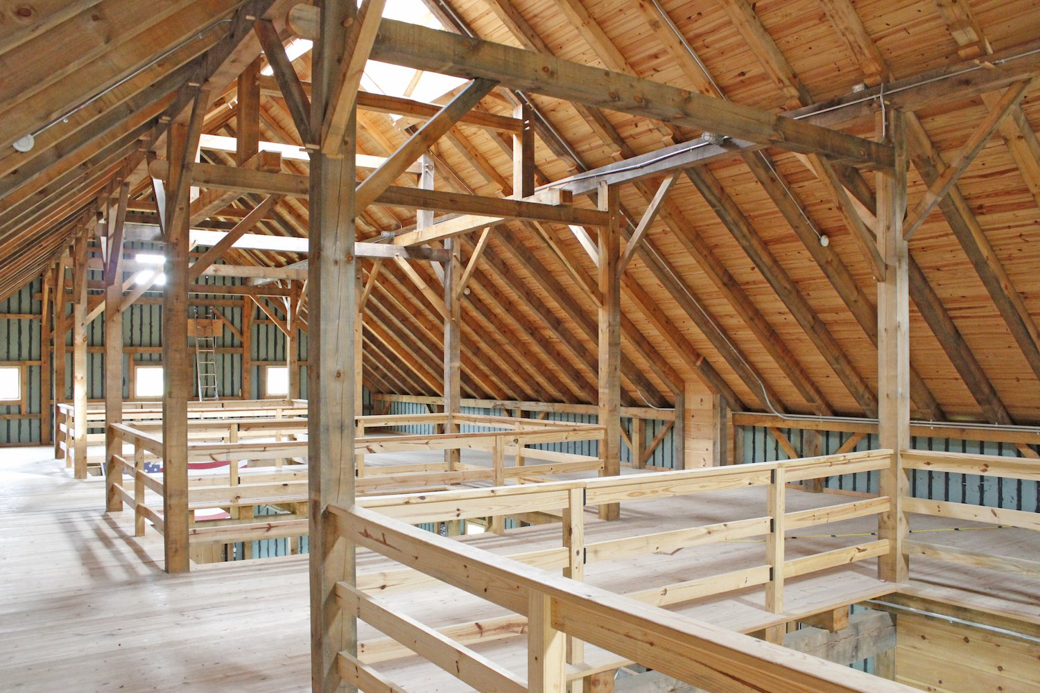 New England Barn Company adheres to the old-fashioned ethic embodied in the sturdy, long lasting construction method of Mortise and Tenon Joinery- using pegs rather than nails.  Photo 10 of 11 in 10 Prefab Barn Companies That Bring DIY to Home Building