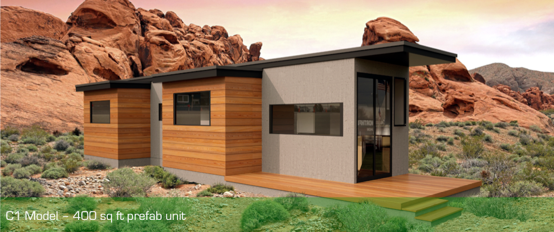 Prefab kit home rendering