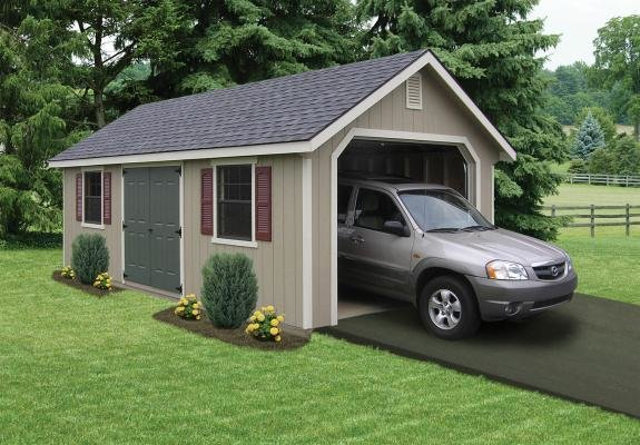 Garage and Detached Garage Room Type A prefabricated garage is the perfect storage solution for one car or off-road vehicles.  Photo 9 of 10 in 10 Prefab Garage Solutions For Auto Enthusiasts