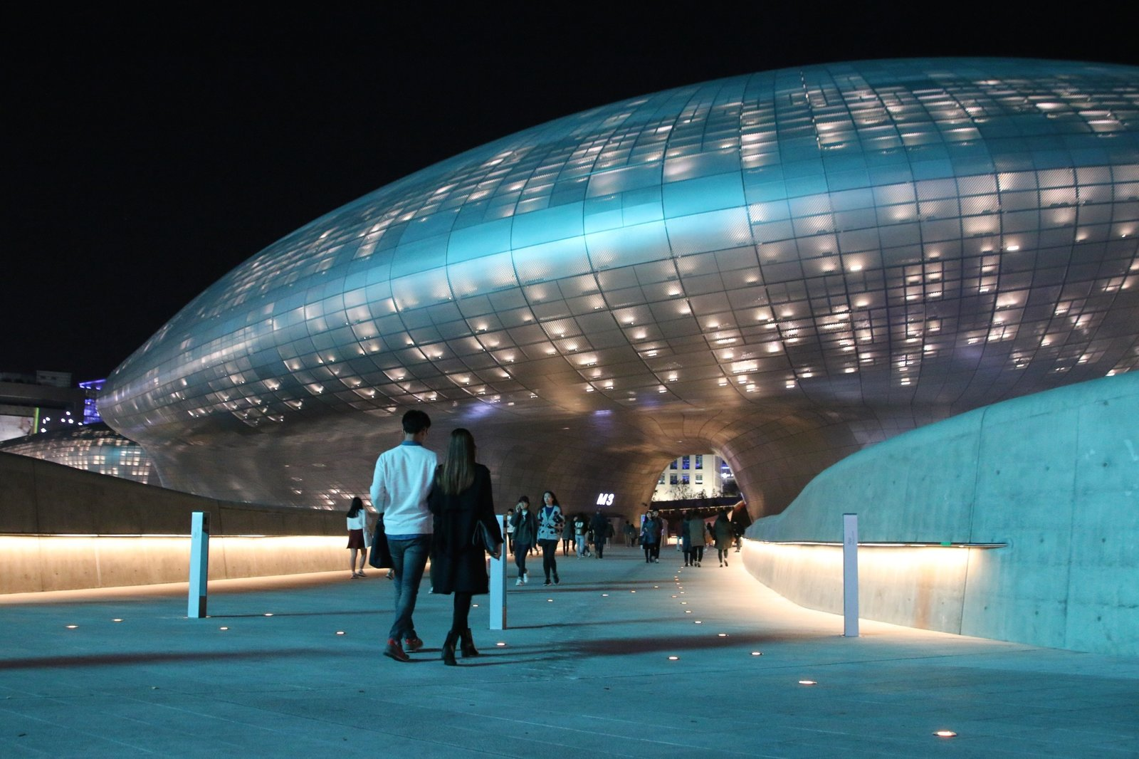 """Exterior Dongdaemun Design Plaza (2008–14), Seoul, South Korea  Photo 15 of 18 in """"Queen of the Curve"""": 18 Influential Works by Zaha Hadid"""