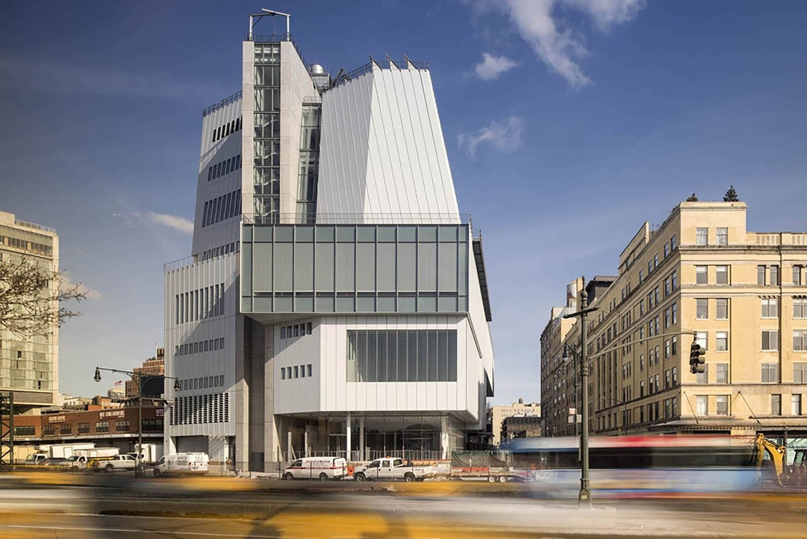 Exterior and Glass Siding Material The Whitney Museum of American Art's new Renzo Piano-designed building is the 200,00 square-foot exhibition replacement of Marcel Breuer's 1966 brutalist Upper East Side masterpiece.  Photo 3 of 13 in 12 Renzo Piano Buildings We Love