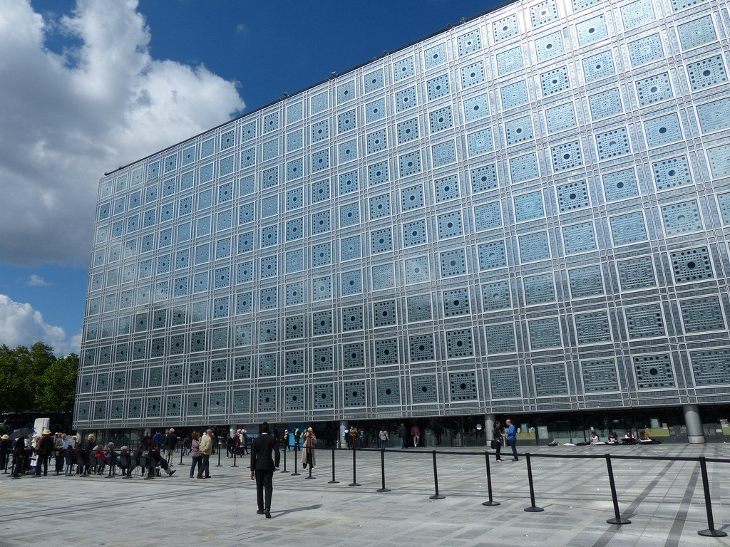 Opened in 1987, the Nouvel's Institut du Monde Arabe is made up of light-sensitive apertures, inspired by traditional oriel windows, or enclosed balconies, used in Islamic architecture.  Photo 3 of 11 in 10 Jean Nouvel Buildings We Love