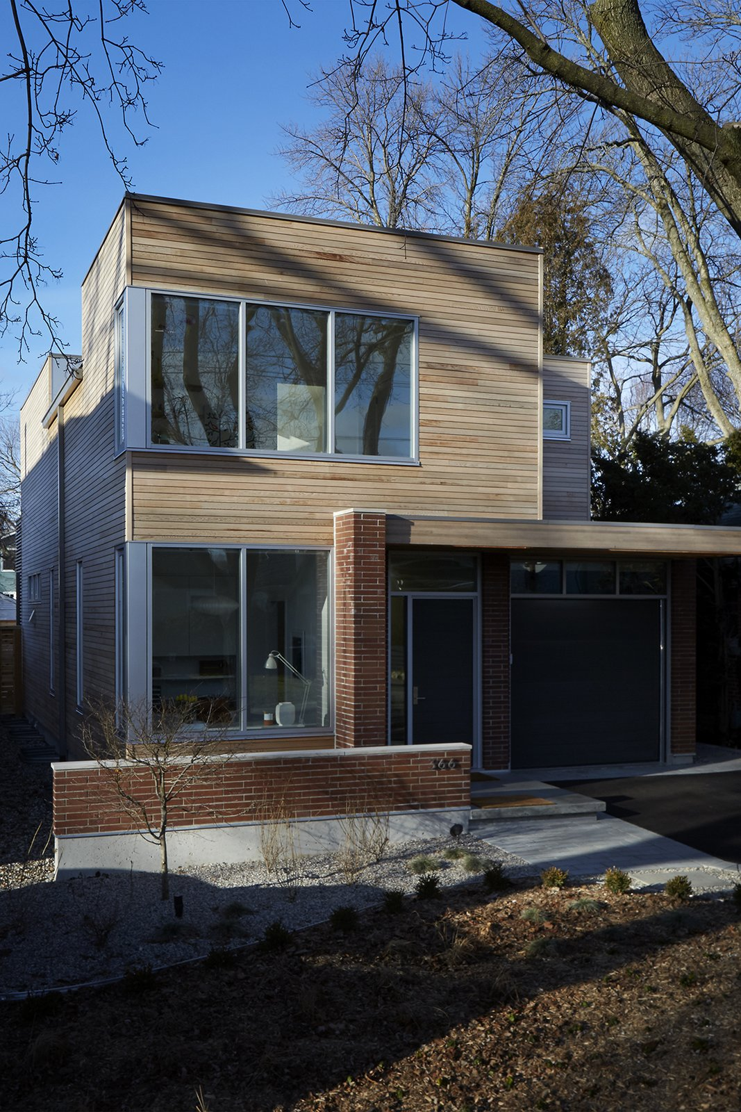 Exterior: Brick and cedar.  Delaware by ben homes