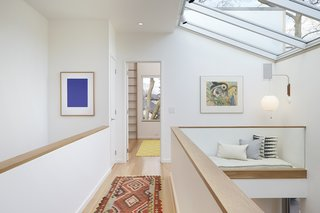 Reading nook and skylight.