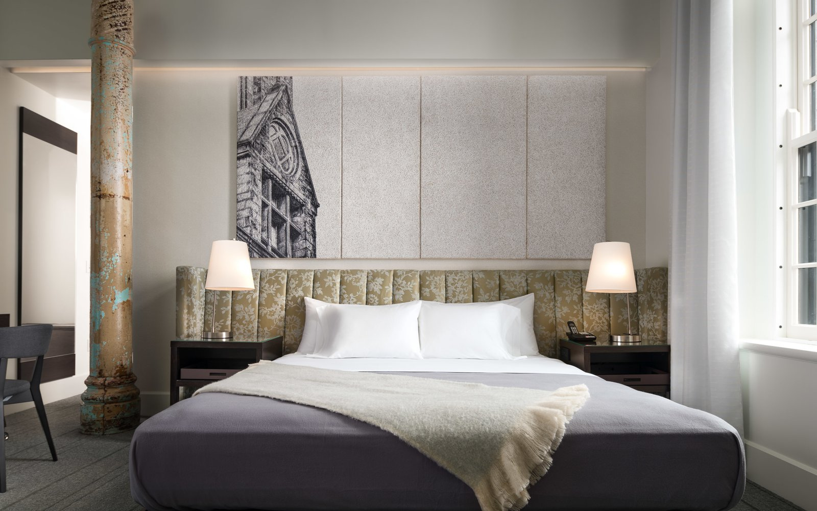 Bedroom King Guest Room  Hotel Henry Urban Resort at Richardson Olmsted Campus