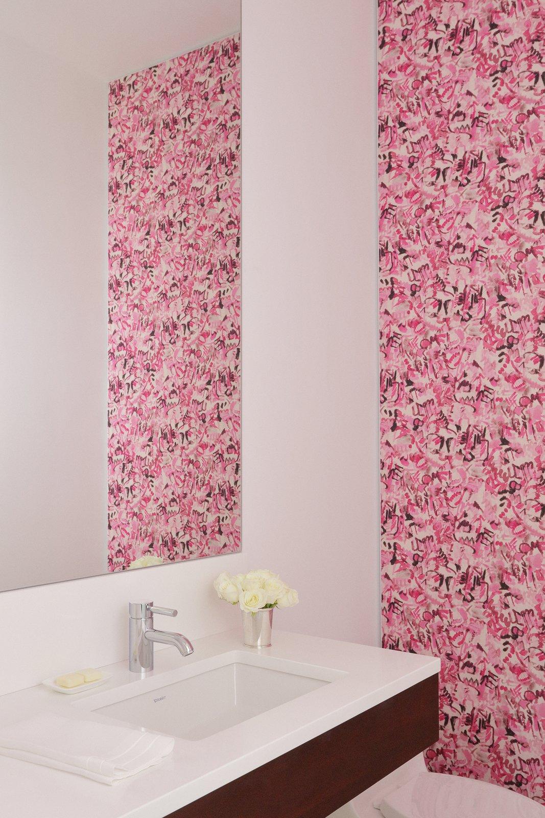 Bath Room, Engineered Quartz Counter, and Undermount Sink Powder Room  The Hearn House