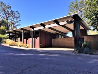 A look at the Richard and Helen Arens House, located on a quiet, tree-lined street in Brentwood.