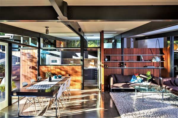 Resting gently on slender beams and posts, the original tongue-and-groove ceiling embodies the purest expression of form and function.