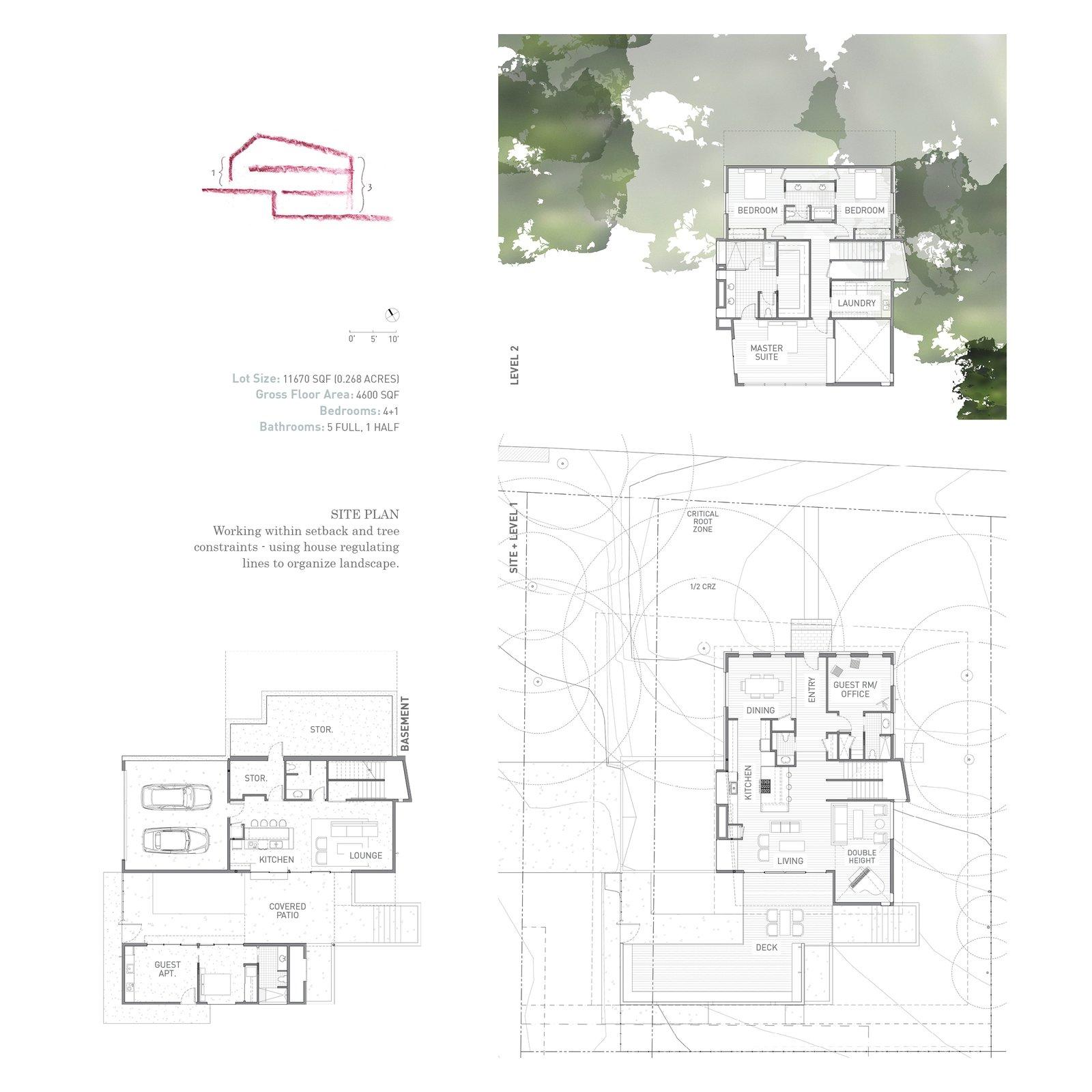 Mullet House site plans