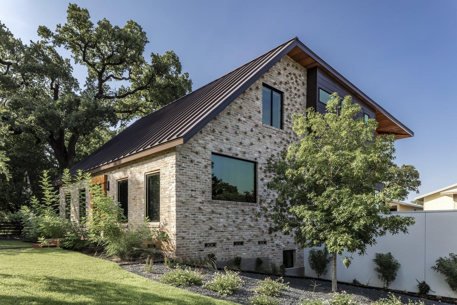 Mullet House repurposed brick exterior