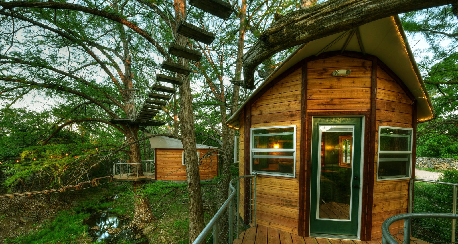 Exterior, Wood Siding Material, and Treehouse Building Type The Willow & Juniper tree house by ArtisTree  Photo 3 of 16 in Experience Tree-Top Living at One of These Sustainable Tree Houses