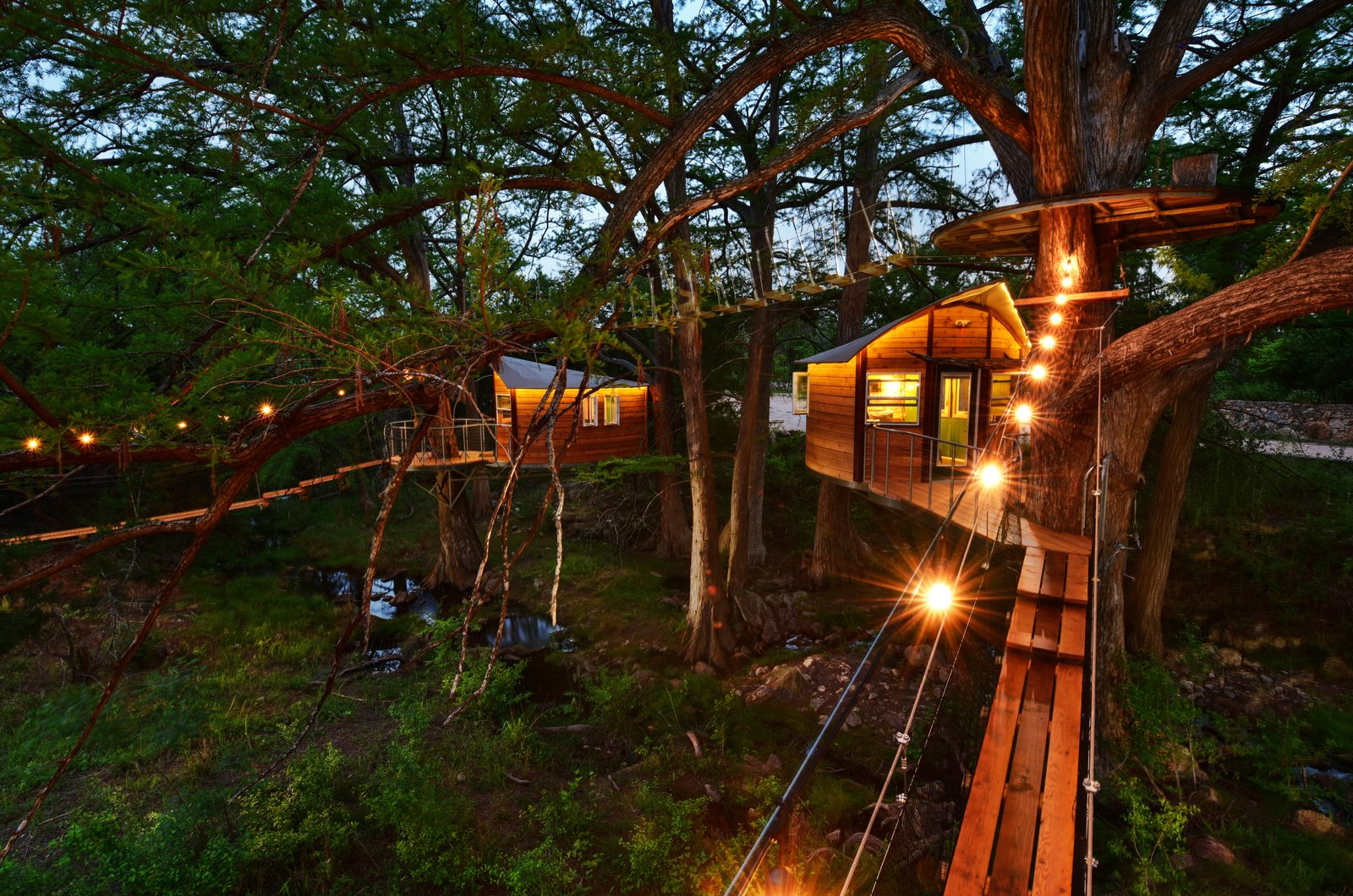 Exterior, Treehouse Building Type, and Wood Siding Material The Willow & Juniper tree house by ArtisTree  Photo 6 of 16 in Experience Tree-Top Living at One of These Sustainable Tree Houses