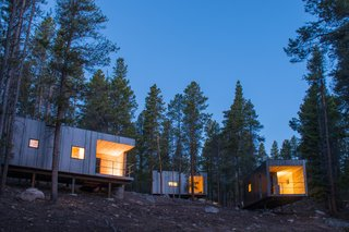 The Colorado Outward Bound Micro Cabins in Leadville, Colorado by students at the University of Colorado, College of Architecture and Planning and Colorado Building Workshop was one of 11 projects that were recipients for the Small Projects Award in 2017.
