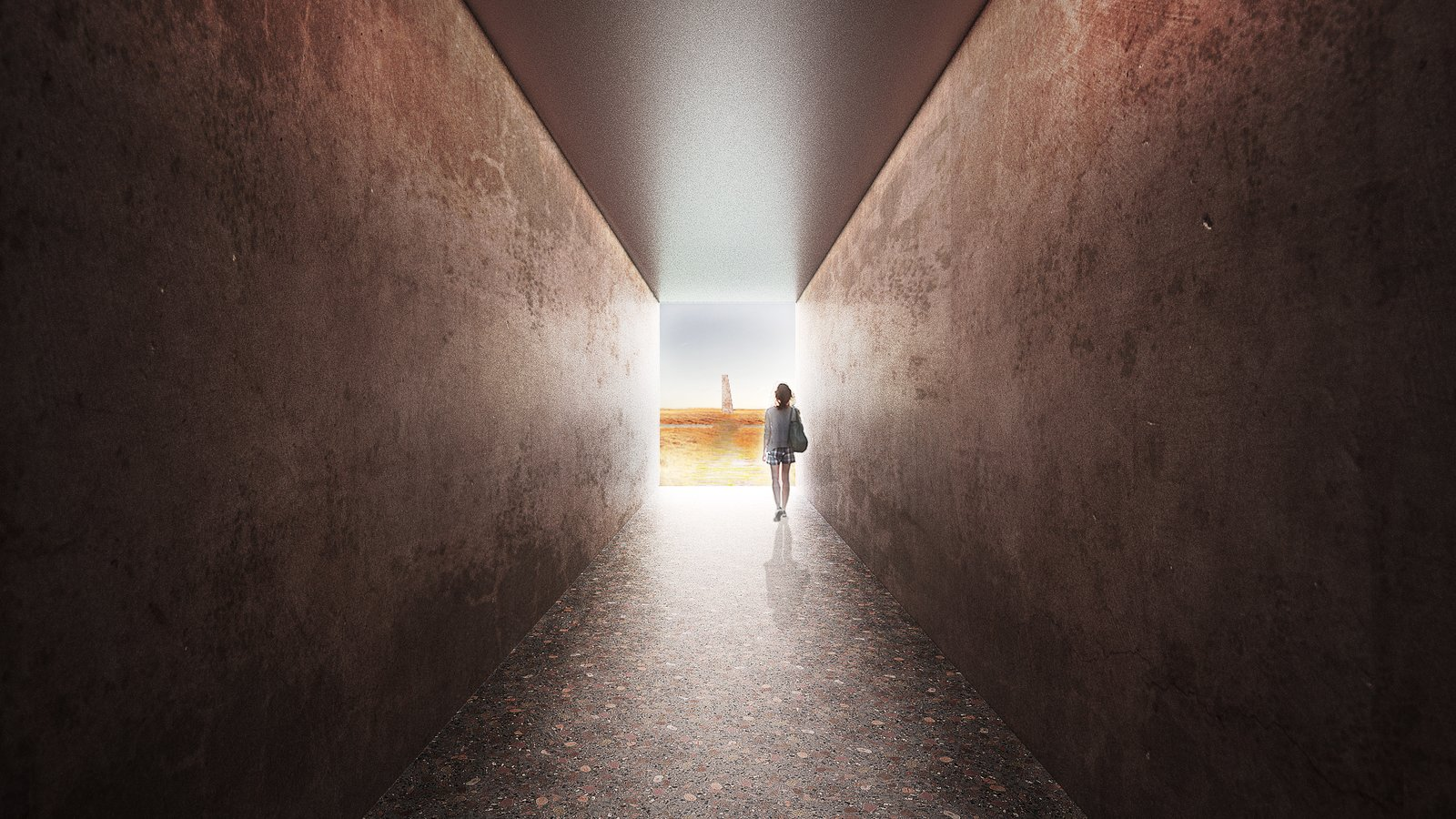 Hallway tunnel  Photo 17 of 18 in A Proposed Icelandic Resort Celebrates Wellness and its Magical Surroundings