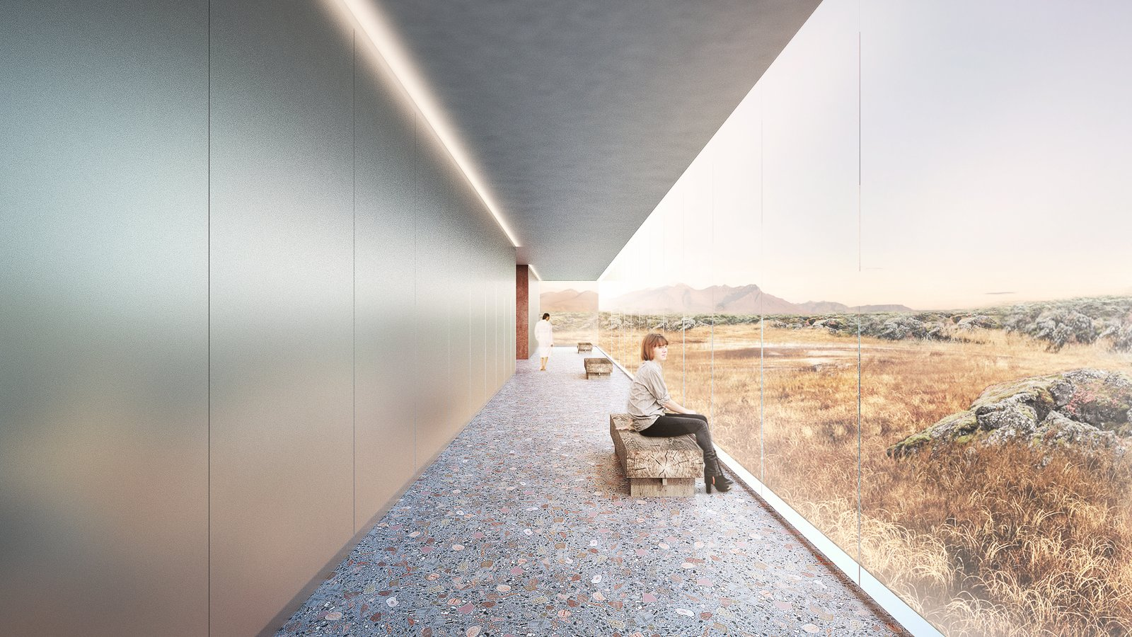 Hallway walkway  Photo 8 of 18 in A Proposed Icelandic Resort Celebrates Wellness and its Magical Surroundings