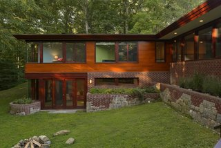 Originally built in 1952, the Masson House in Pleasantville, New York recently received an addition and renovation by Carol Kurth Architects that honors Frank Lloyd Wright's intent and vision.
