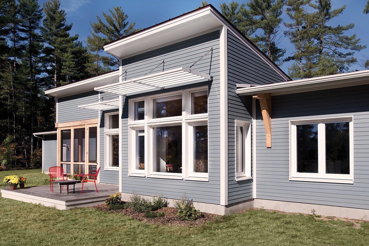 Exterior, House Building Type, and Prefab Building Type Headquartered in Walpole, Unity Homes seeks to make high-performance, low-energy homes widely available and more affordable. Throughout the years, the team has streamlined the production process of their prefab customized homes, depending on client needs. They create detailed three-dimensional computer models, which turn into the digital plans for large parts of the dwellings. The plans are then followed closely as the home's components are produced off-site, which reduces as much construction waste as possible.    Photo 2 of 5 in 5 Firms Eager to Build You a Modern Prefab in New Hampshire