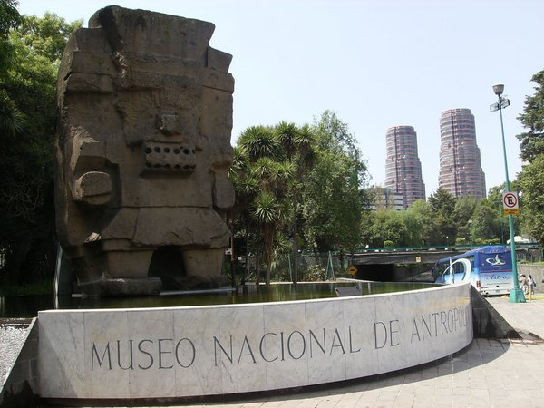 The Museo Nacional de Antropología in Mexico City houses incredible archaeological and anthropological finds, including art and artifacts from the Mayan, Aztec, and Olmec civilizations. The building's distinctly modern design contrasts with the historic findings inside.